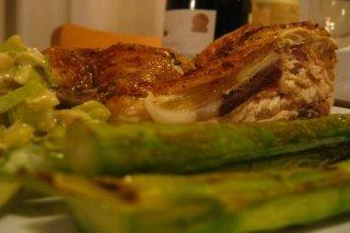 Receta de adobo de pollo con espárragos