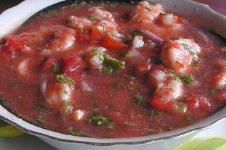 Receta de aguachile de camarón