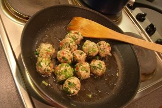 Receta de albóndigas de pollo con chile