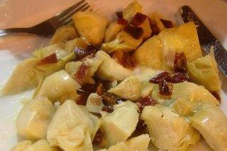 Receta de alcachofas de lata con jamón