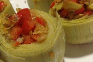 Receta de alcachofas rellenas de verduras