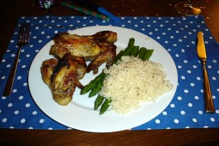 Receta de alitas de pollo con arroz