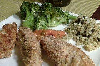 Receta de alitas de pollo crujientes con brócoli al ajillo