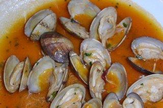 Receta de almejas con salsa marinera
