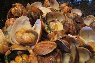 Receta de almejas de bulhao pato