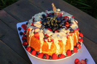 Receta de angel food cake