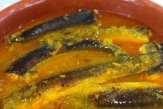 Receta de anguilas guisadas al pimentón