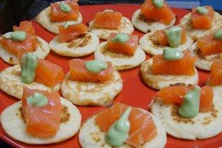 Receta de aperitivos con salmón