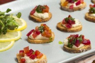 Receta de aperitivos de queso azul