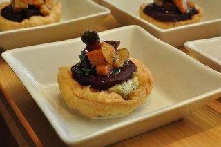 Receta de tartaletas de remolacha con queso de cabra