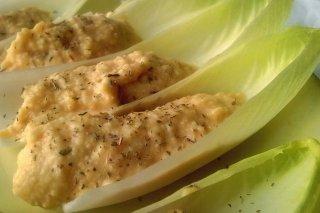 Receta de aperitivos vegetariano con endibias