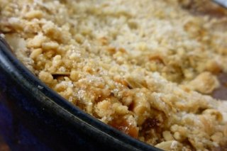 Receta de apple crumble