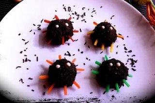 Receta de arañas de chocolate