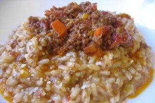 Receta de arroz a la boloñesa