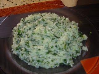 Receta de arroz  a la  florentina con nueces