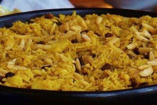 Receta de arroz amarillo con pasas