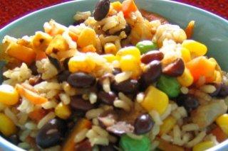 Receta de arroz arcoiris