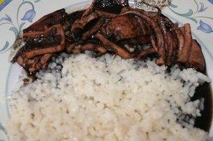 Receta de arroz blanco con calamares