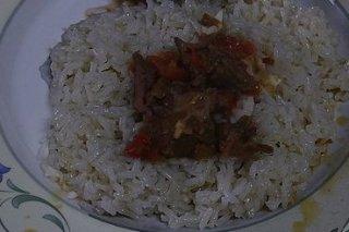 Receta de arroz blanco con carne