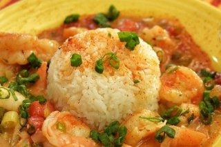 Receta de arroz cocido con salsa de gambas