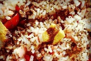 Receta de arroz con atún en ensalada