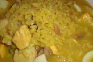 Receta de arroz con bacalao y calamares