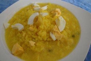 Receta de arroz con bacalao y huevo