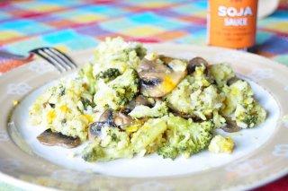 Receta de arroz con brócoli y champiñones