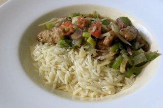 Receta de arroz con carne y pimientos