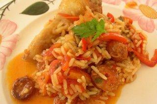 Receta de arroz con chorizo y pollo