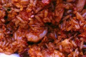 Receta de arroz con gambas y tomate frito