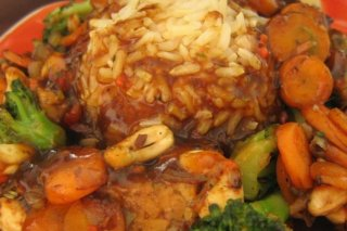 Receta de arroz con gambas y verduras