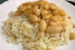 Receta de arroz con judías