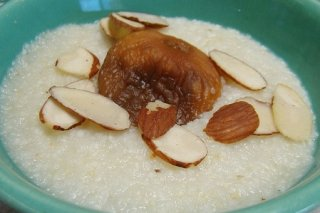 Receta de arroz con leche y almendras