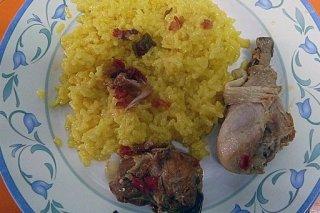Receta de arroz con muslos de pollo