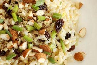 Receta de arroz con pasas y almendras