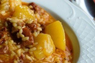Receta de arroz con patatas y costillas