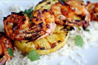 Receta de arroz con piña y langostinos