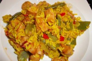 Receta de arroz con pollo a la plancha