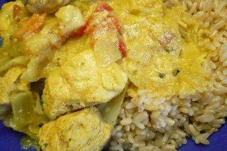 Receta de arroz con pollo al curry