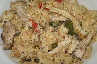 Receta de arroz con pollo asado