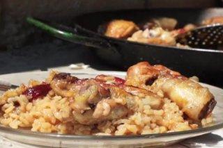 Receta de arroz con pollo en paella