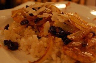 Receta de arroz con pollo y almendras