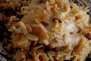 Receta de arroz con pollo y pasas