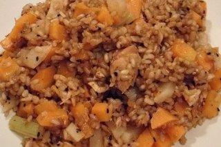 Receta de arroz con pollo y zanahoria