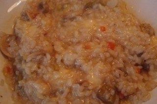 Receta de arroz con queso y setas
