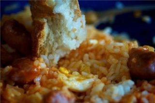 Receta de arroz con salchichas a la cerveza