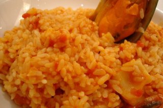 Receta de arroz con salsa de tomate
