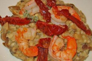 Receta de arroz con setas y gambas