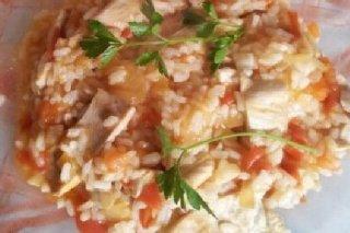 Receta de arroz con tomate y pollo